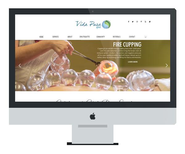 Web Design for Vida Pura SpaWeb Design for Vida Pura Spa