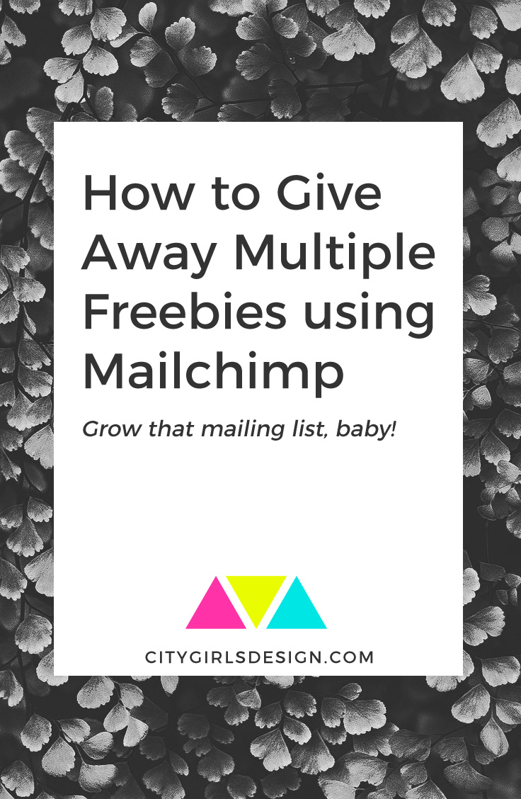 How to Give Away Multiple Freebies using Mailchimp | CityGirl's Design