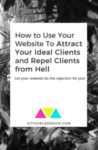 How to Use Your Website To Attract Your Ideal Clients and Repel Clients from Hell