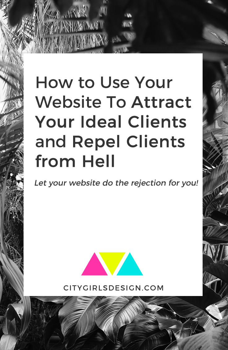 How to Use Your Website To Attract Your Ideal Clients and Repel Clients from Hell | CityGirl's Design