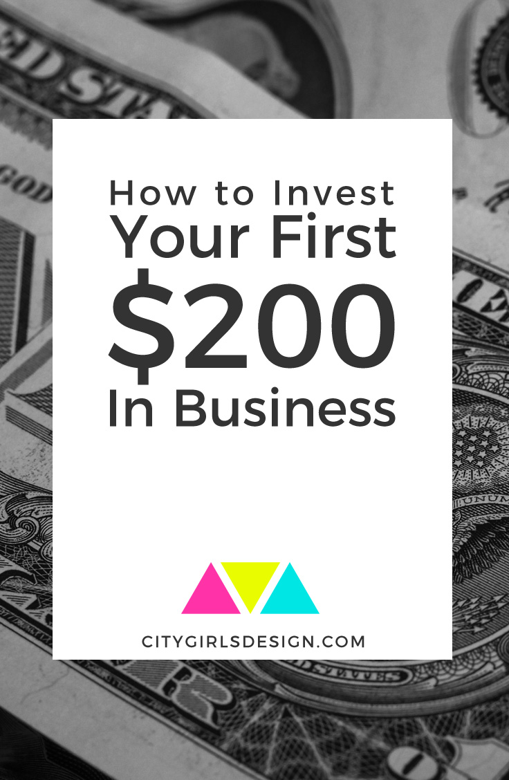 How you can invest your first $200 to build a rock-solid business foundation