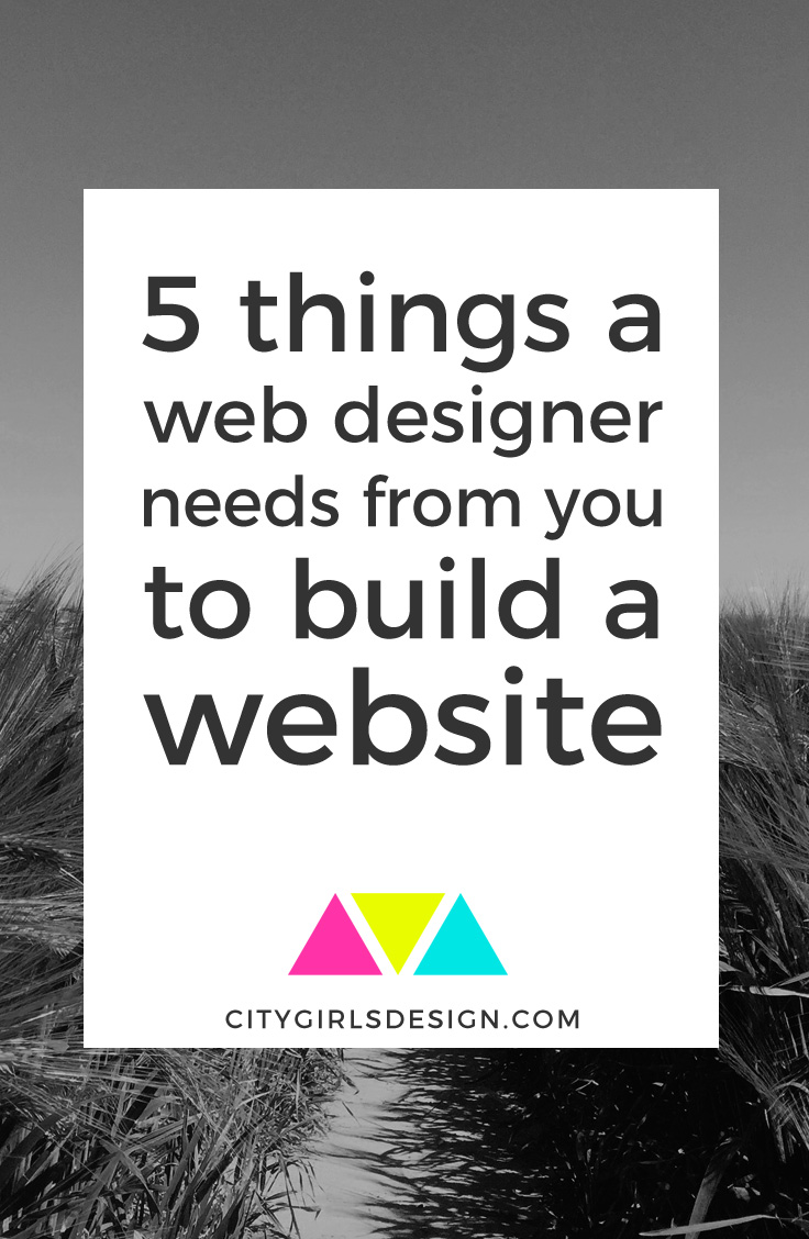 5 Things a Web Designer Needs From You to Build a Website | CityGirl's Design